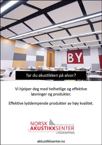 Norsk Akustikksenter tilbyr lyddempende løsninger som effektivt skaper et godt og komfortabelt akustisk miljø i hht regulativet Norsk Standard.